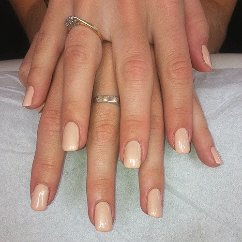 Bio Sculpture overlay with nail repairs