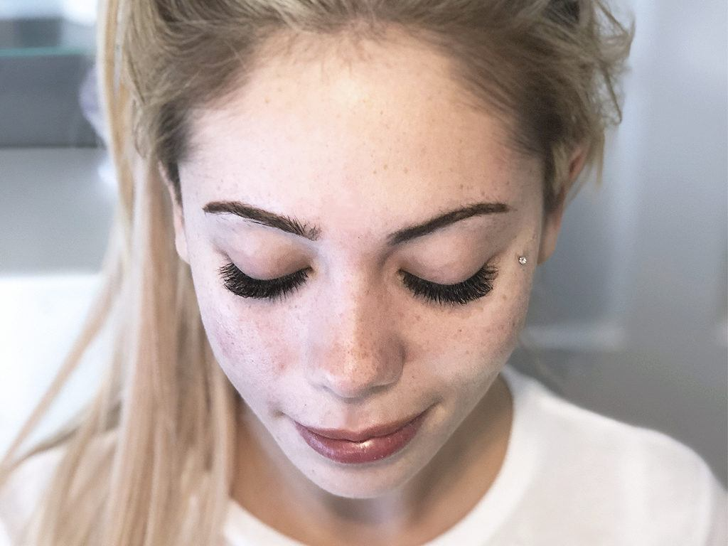 A set of Volume Eyelash Extensions by Jennifer Turner